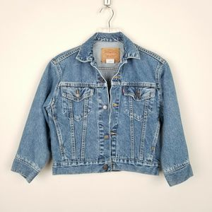 Levi's Vtg 80s Trucker Cropped Denim Jacket